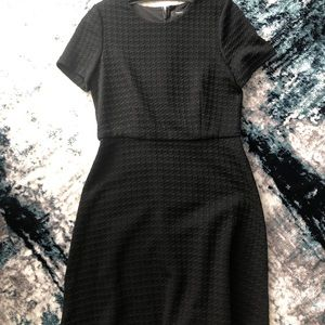 Theory black houndstooth dress size 10